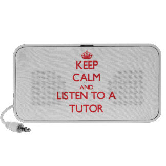 Keep Calm and Listen to a Tutor iPhone Speakers