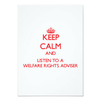 Keep Calm and Listen to a Welfare Rights Adviser Announcement