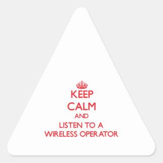 Keep Calm and Listen to a Wireless Operator Sticker