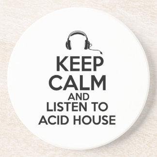 Keep calm and listen to Acid House Coaster