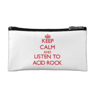 Keep calm and listen to ACID ROCK Cosmetic Bags