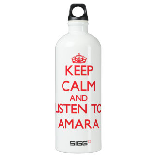 Keep Calm and listen to Amara SIGG Traveler 1.0L Water Bottle