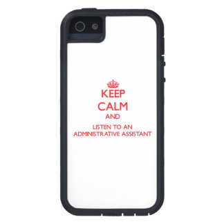 Keep Calm and Listen to an Administrative Assistan iPhone 5 Case
