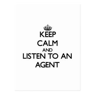 Keep Calm and Listen to an Agent Postcard