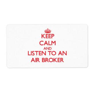 Keep Calm and Listen to an Air Broker Custom Shipping Labels