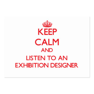 Keep Calm and Listen to an Exhibition Designer Business Card
