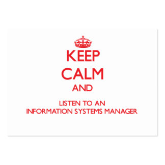 Keep Calm and Listen to an Information Systems Man Business Card Template