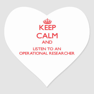 Keep Calm and Listen to an Operational Researcher Sticker