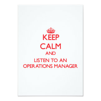 Keep Calm and Listen to an Operations Manager Custom Invitation