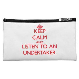 Keep Calm and Listen to an Undertaker Makeup Bag