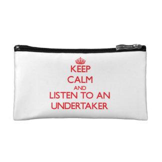 Keep Calm and Listen to an Undertaker Makeup Bags
