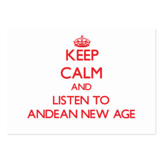 Keep calm and listen to ANDEAN NEW AGE Business Card