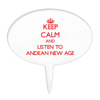 Keep calm and listen to ANDEAN NEW AGE Cake Picks