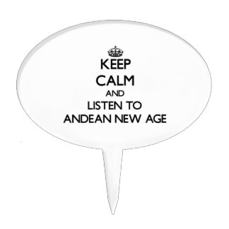 Keep calm and listen to ANDEAN NEW AGE Cake Topper