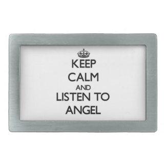 Keep Calm and Listen to Angel Belt Buckle