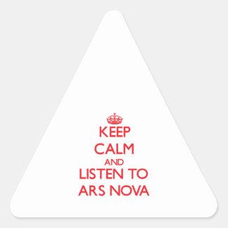 Keep calm and listen to ARS NOVA Triangle Sticker