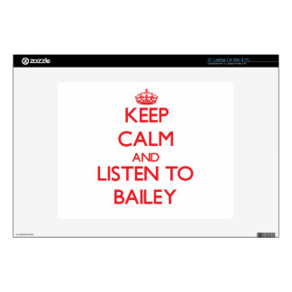 """Keep calm and Listen to Bailey Decals For 12"""" Laptops"""