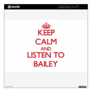 Keep calm and Listen to Bailey Skin For MacBook