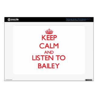 Keep calm and Listen to Bailey Samsung Chromebook Skin