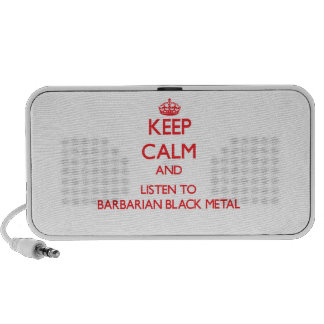 Keep calm and listen to BARBARIAN BLACK METAL Portable Speaker