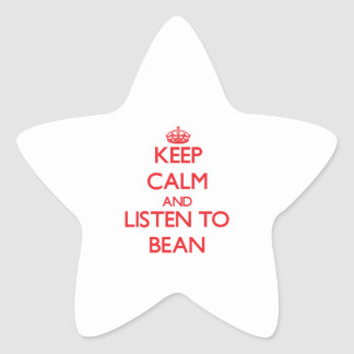 Keep calm and Listen to Bean Star Sticker