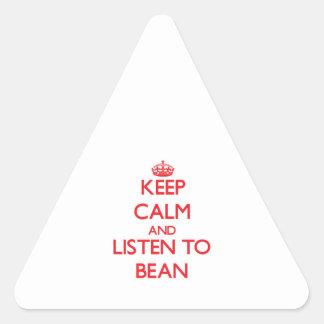 Keep calm and Listen to Bean Triangle Sticker