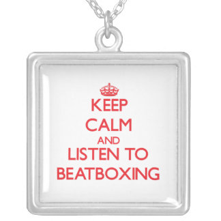 Keep calm and listen to BEATBOXING Custom Jewelry