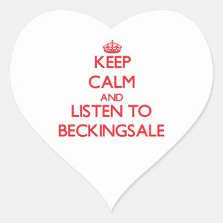 Keep calm and Listen to Beckingsale Heart Sticker
