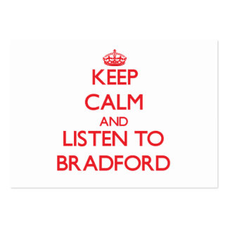 Keep calm and Listen to Bradford Business Cards