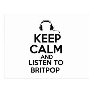 Keep calm and listen to Britpop Postcard
