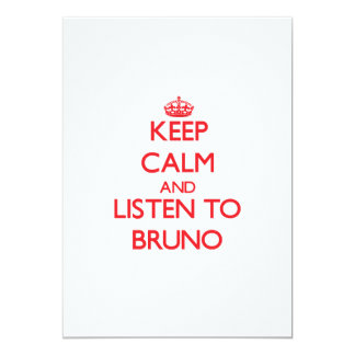 Keep Calm and Listen to Bruno 5x7 Paper Invitation Card