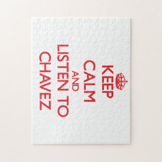 Keep calm and Listen to Chavez Jigsaw Puzzles