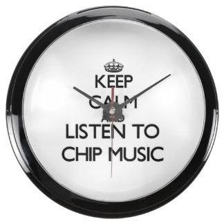 Keep calm and listen to CHIP MUSIC Aqua Clock