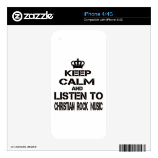 Keep Calm And Listen To Christian Rock Music Skins For The iPhone 4