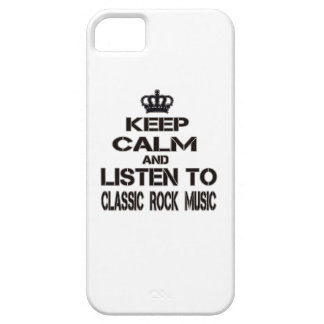 Keep Calm And Listen To Classic Rock Music iPhone 5 Case