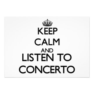 Keep calm and listen to CONCERTO Custom Announcements