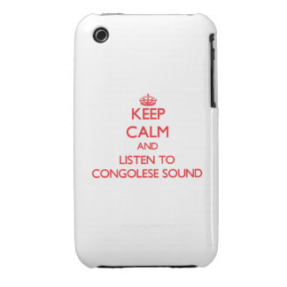Keep calm and listen to CONGOLESE SOUND iPhone 3 Case