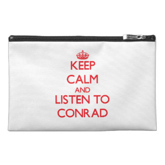 Keep calm and Listen to Conrad Travel Accessories Bag