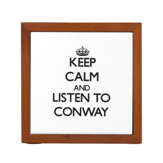 Keep calm and Listen to Conway Desk Organizers