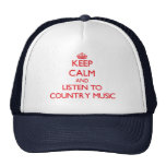 Keep calm and listen to COUNTRY MUSIC Mesh Hat