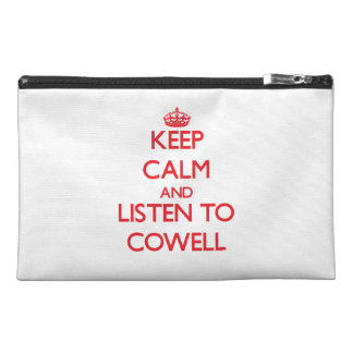 Keep calm and Listen to Cowell Travel Accessories Bags