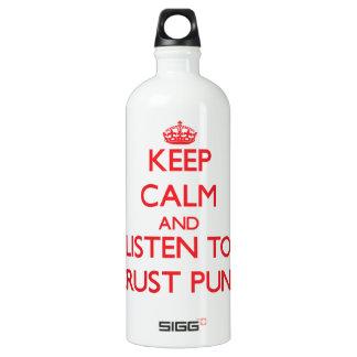 Keep calm and listen to CRUST PUNK SIGG Traveler 1.0L Water Bottle