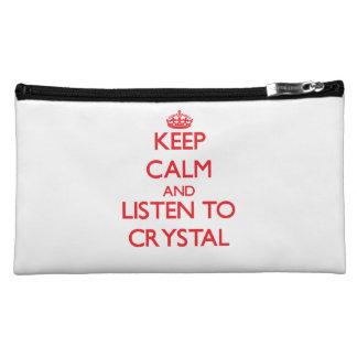 Keep calm and Listen to Crystal Makeup Bag