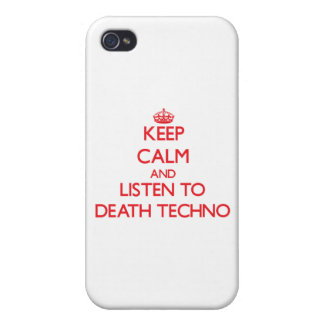 Keep calm and listen to DEATH TECHNO iPhone 4 Cover