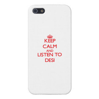 Keep calm and listen to DESI Cover For iPhone 5/5S