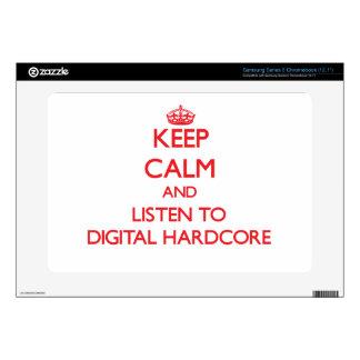 Keep calm and listen to DIGITAL HARDCORE Samsung Chromebook Decals