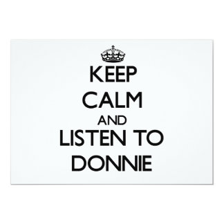 Keep Calm and Listen to Donnie Cards