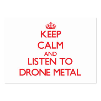 Keep calm and listen to DRONE METAL Business Card Template