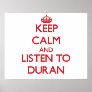 Keep calm and Listen to Duran Print