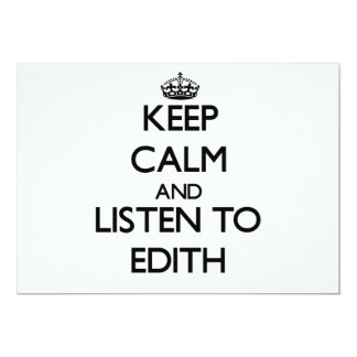 Keep Calm and listen to Edith 5x7 Paper Invitation Card